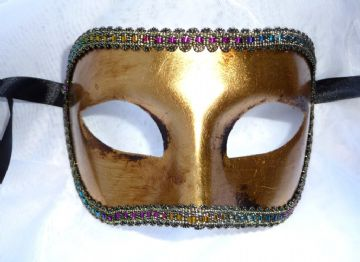 Genuine Venetian Burnished Gold Leaf Mask